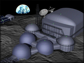An image of the BIO-BLAST lunar base
