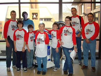 Image of Members of the first place MARS Rovers team.