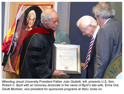 Image of Erma Ora Byrd that reads - Wheeling Jesuit University President