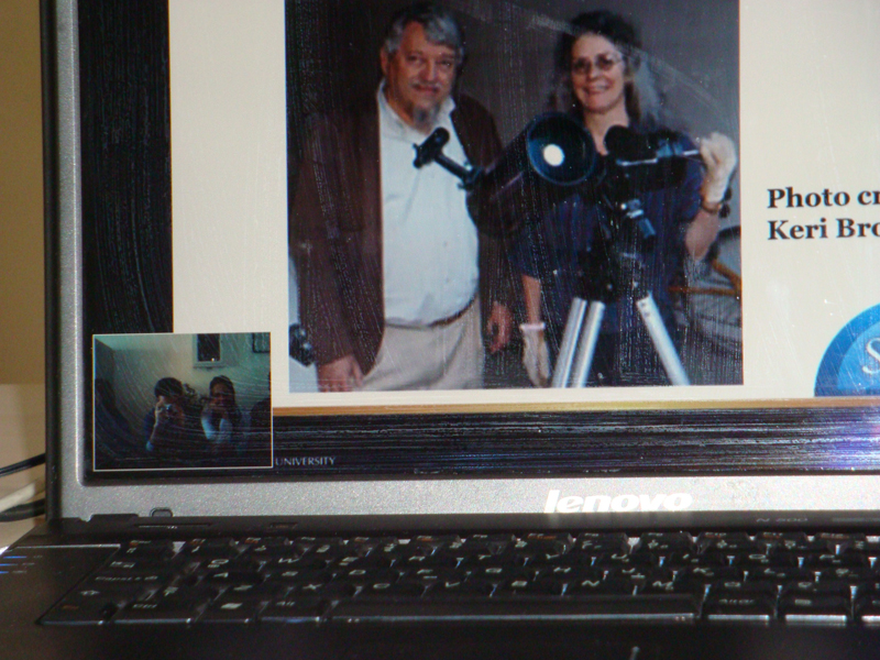 A screen capture of the videoconference.