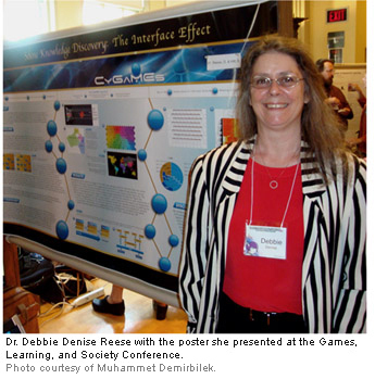 Dr. Debbie Denise Reese with poster.