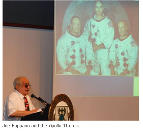 Joe Pappano and the Apollo 11 crew.