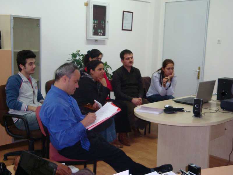 Muhammet Demirbilek and students.